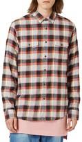 Topman Men's Check Flannel Shirt