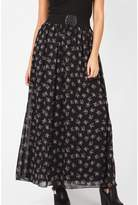 Select Fashion Fashion Womens Black Spriggy Corset Belt Maxi Skirt - size 6