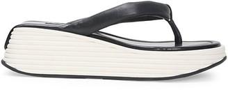 Givenchy Kyoto Platform Leather Flip Flops