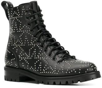Jimmy Choo Cruz star-studded combat boots