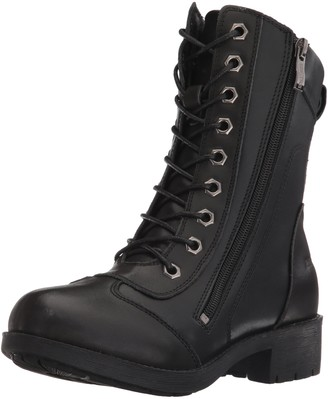 "Ride Tec Women's 8650 8"" Zipper Biker Boot Black Work 9 M US"