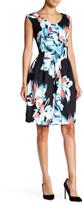 Ellen Tracy Floral Print Fit & Flare Dress