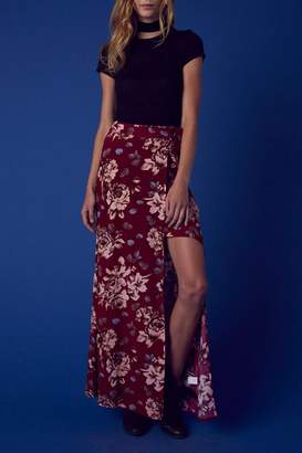 Cotton Candy Floral Wrap Skirt