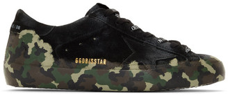Golden Goose Black Camo Suede Superstar Sneakers