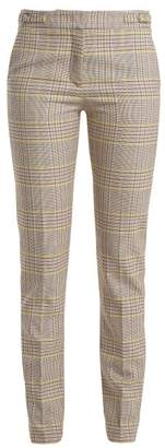 Gabriela Hearst Lisa Plaid Wool-blend Trousers - Womens - Pink Multi
