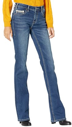 Rock and Roll Cowgirl Mid-Rise Bootcut in Medium Wash W1-7533 (Medium Wash) Women's Jeans