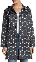 Kate Spade Dot Button-Front Hooded Rain Coat