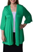 24/7 Comfort Apparel 3/4 Sleeve Cardigan Plus