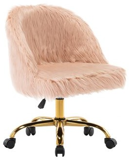 Everly Quinn Erico Plush Task Chair Upholstery Color: Pink