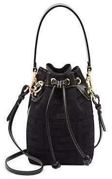 Fendi Women's Mini Mon Tresor Canvas Bucket Bag