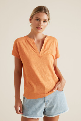 Seed Heritage V Neck Linen Top