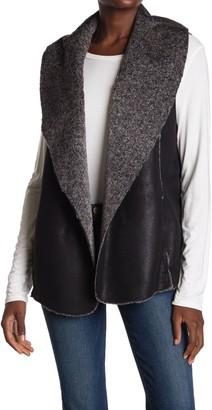 Fifteen-Twenty Faux Leather Faux Fur Lined Vest