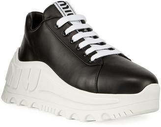 Miu Miu Chunky Logo Platform Sneakers