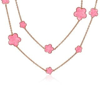 Bling Jewelry Cream Clover Flower Silver Plated Tin Cup Chain Wrap Layer Necklace - 36