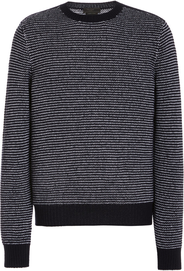 Prada Striped Cashmere-Knit Sweater