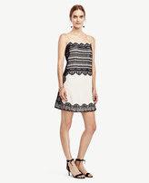 Ann Taylor Lace Trim Slip Dress