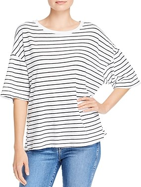 Dolan Striped Drop-Shoulder Top