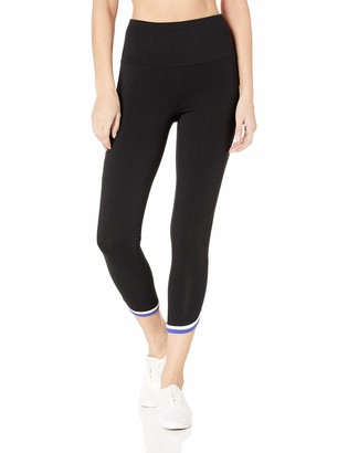 Andrew Marc Women's High Waisted 7/8s Lenth Legging with Contrast Binding
