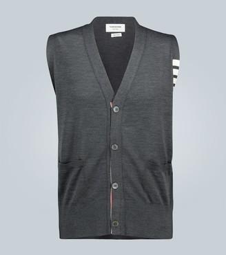 Thom Browne 4-Bar Merino wool V-neck vest