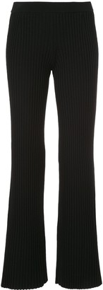 Mrz Ribbed Knit Flared Trousers