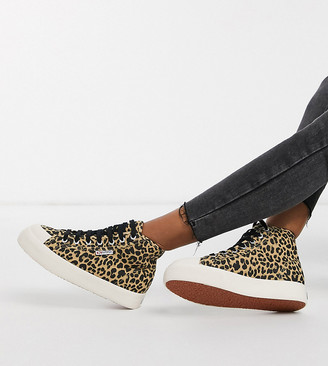 Superga exclusive 2295 hightop trainers in leopard