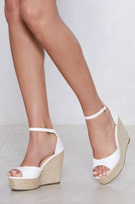 Nasty Gal Womens Sunny Afternoon Espadrille Wedge Sandal - White