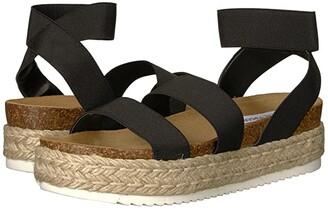 Steve Madden Kimmie Espadrille Sandal (Black) Women's Shoes