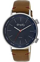 Simplify The 3300 Collection SIM3303 Silver Analog Watch