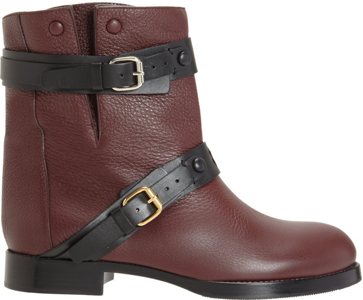 Chloé Double Strap Flat Ankle Boot