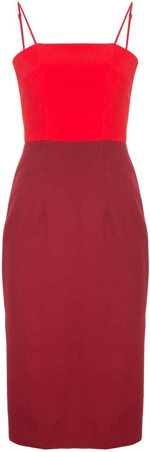 Milly colour block spaghetti strap dress