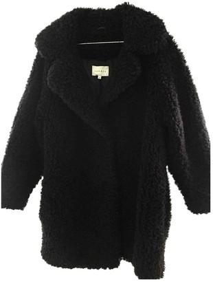 Sandro Black Faux fur Coat for Women