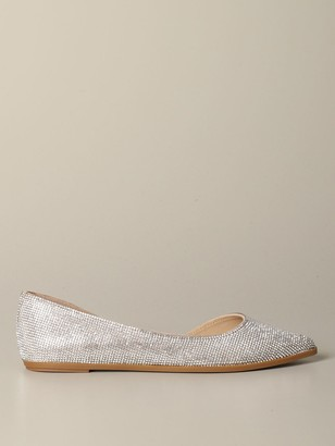 Steve Madden Pointed Toe Ballet Flat With Micro Rhinestones