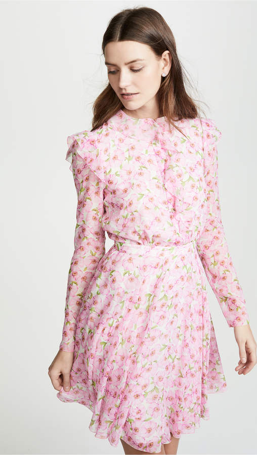 Giambattista Valli Floral Ruffle Dress
