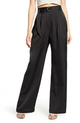 WAYF Ellyn Belted Pleated Trousers
