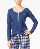 Tommy Hilfiger Elbow-Patch Henley Pajama Top