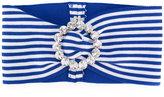 Alessandra Rich - striped headband - women - Cotton/Polyester/Spandex/Elastane - One Size