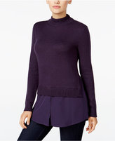 Style&Co. Style & Co. Mock-Neck Layered-Look Sweater, Only at Macy's