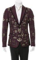 Dolce & Gabbana Two-Button Silk Blazer w/ Tags