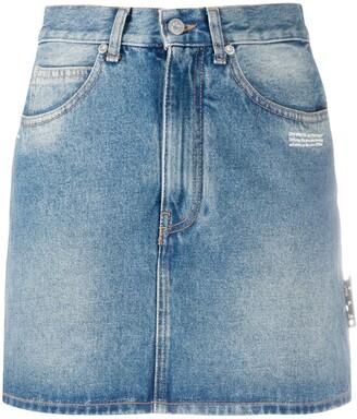Off-White High Waist Denim Skirt