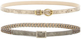 Steve Madden Assorted Braided Metallic Belt - Set of 2