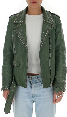 Golden Goose Stud-Embellished Biker Jacket