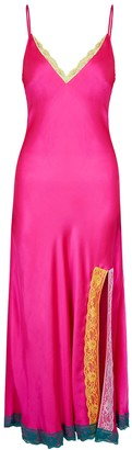 Olivia Rubin Veronica Hot Pink Silk Maxi Dress