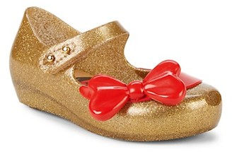 Mini Melissa Baby Girl's Little Girl's Snow White Glitter Bow Mary Janes