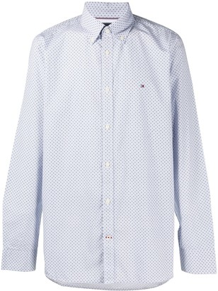 Tommy Hilfiger Logo Geometric Embroidered Shirt