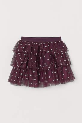 H&M Glittery tulle skirt