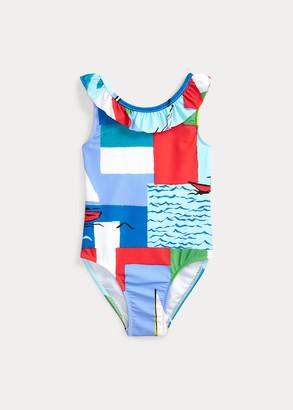 Ralph Lauren Graphic One-Piece Swimsuit