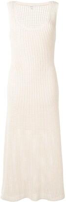 A.L.C. Waffle-Knit Sleeveless Maxi Dress