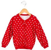 Rachel Riley Girls' Polka Dot Button-Up Cardigan