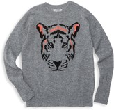 Autumn Cashmere Little Girl's & Girl's Tiger Crew Sweater