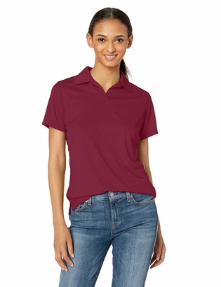 UltraClubs Women's Cool & Dry Sport Performance Interlock Polo